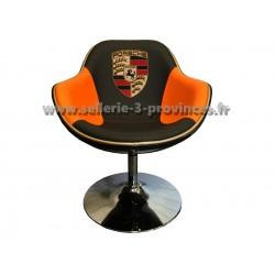 Fauteuil Porsche (orange et noir)