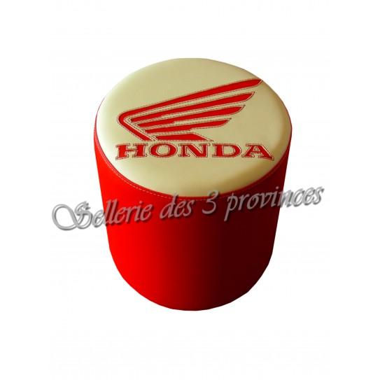 Pouf Honda rouge