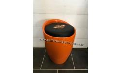 Tabouret Harley Davidson coffre orange